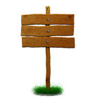 Sinal de madeira do deslocamento predeterminado Fotografia de Stock Royalty Free