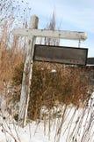 Sinal de madeira em branco Foto de Stock