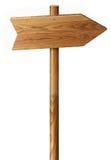 Sinal de madeira isolado Fotografia de Stock Royalty Free