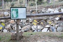 Sinal de madeira para a colheita das uvas Foto de Stock