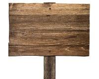 Sinal de madeira velho Fotos de Stock Royalty Free