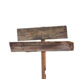 Sinal de madeira velho Imagem de Stock