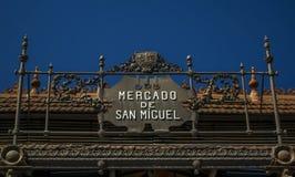 Sinal de Mercado de San Miguel Foto de Stock
