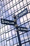 Sinal de moeda Fotografia de Stock Royalty Free
