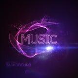 Sinal de néon da música 3D ilustração stock