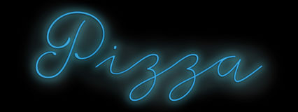 Sinal de néon da pizza Imagem de Stock Royalty Free