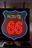 Sinal de néon da rota 66 Fotografia de Stock Royalty Free