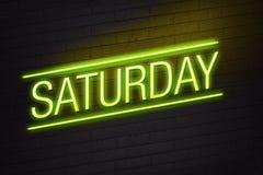 Sinal de néon de sábado ilustração royalty free