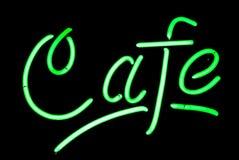 Sinal de néon do café Fotografia de Stock
