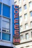 Sinal de néon do café Imagens de Stock Royalty Free