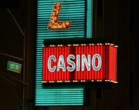 Sinal de néon do casino Imagens de Stock Royalty Free