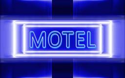 Sinal de néon do motel Fotos de Stock Royalty Free