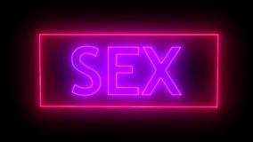 Sinal de néon do sexo rendição 3d ilustração stock