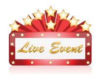 Sinal de néon do teatro da estrela vermelha viva do evento Fotografia de Stock
