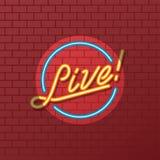 Sinal de néon do tubo do espetáculo ao vivo ilustração royalty free