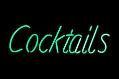 Sinal de néon dos cocktail Imagens de Stock Royalty Free