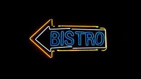 Sinal de néon dos restaurantes Fotografia de Stock Royalty Free