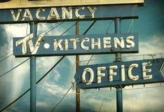 Sinal de néon envelhecido do vintage Fotografia de Stock Royalty Free