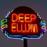 Sinal de néon profundo de Ellum Fotos de Stock Royalty Free
