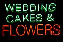 Sinal de néon Wedding Fotografia de Stock Royalty Free