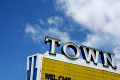 Sinal de néon do teatro do vintage Imagens de Stock Royalty Free