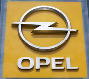 Sinal de Opel fotos de stock royalty free
