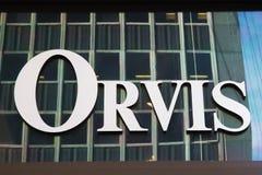 Sinal de Orvis Empresa. Imagens de Stock