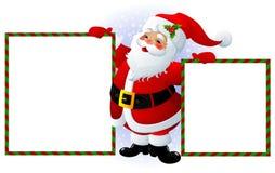 Sinal de Papai Noel Foto de Stock