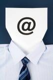 Sinal de papel da face e do email Fotos de Stock