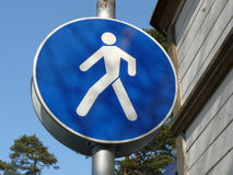 Sinal de passeio Imagens de Stock