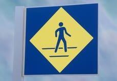 Sinal de passeio de Pedestian Fotografia de Stock
