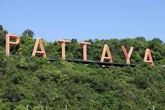 Sinal de Pattaya Fotos de Stock Royalty Free