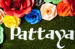 Sinal de Pattaya foto de stock