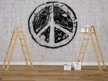 Sinal de paz desvanecido rendição 3d Fotografia de Stock Royalty Free