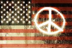 Sinal de paz dos EUA foto de stock