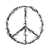 Sinal de paz preto do grunge ilustração stock