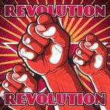 Sinal de perfuração retro da revolução do punho ilustração stock