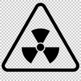 Sinal de perigo da radiação Símbolo isolado ilustração royalty free