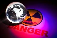 Sinal de perigo da radiação Fotos de Stock Royalty Free