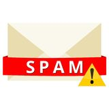 Sinal de perigo do Spam Imagem de Stock Royalty Free