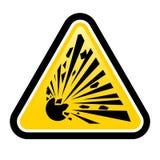 Sinal de perigo explosivo Foto de Stock Royalty Free