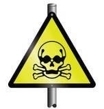 Sinal de perigo tóxico ilustração royalty free