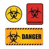 Sinal de perigos biológico ilustração stock