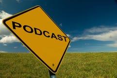 Sinal de Podcast Foto de Stock Royalty Free