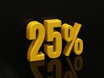 Sinal de 25 por cento ilustração stock