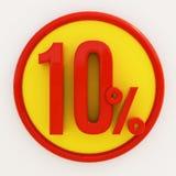 Sinal de 10 por cento ilustração stock