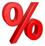 Sinal de por cento Foto de Stock Royalty Free