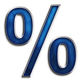 sinal de por cento 3D Foto de Stock