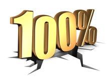 sinal de 100 por cento Foto de Stock Royalty Free