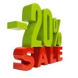 Sinal de 20 por cento Foto de Stock Royalty Free